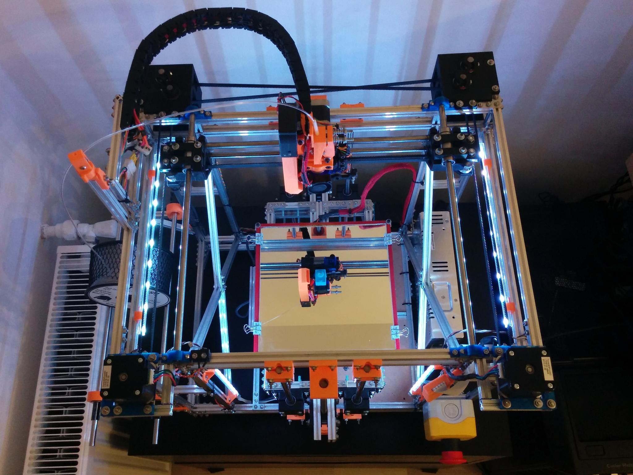 Tim's MakerBeam 3D printer, 1-7