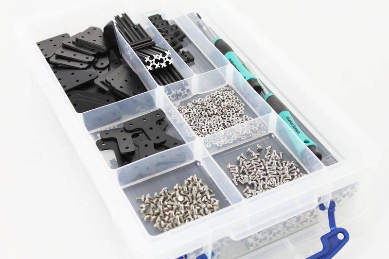 OpenBeam - 15x15mm aluminum profile Black Precut Kit in-a-box OpenBeam