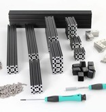OpenBeam Black Precut Kit OpenBeam in-a-box plus XL brackets