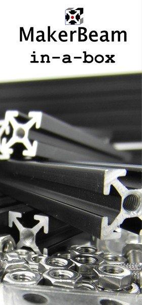 MakerBeam Black Premium MakerBeam Starter Kit