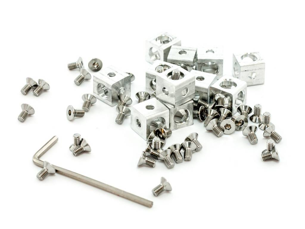 MakerBeam - 10x10mm aluminum profile Clear Premium MakerBeam Starter Kit