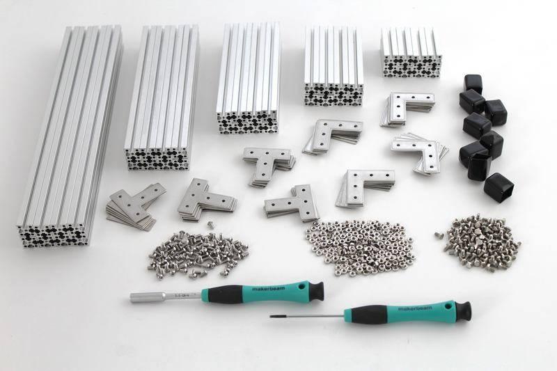 MakerBeamXL - 15x15mm aluminum profile Clear  Starter Kit Regular MakerBeamXL