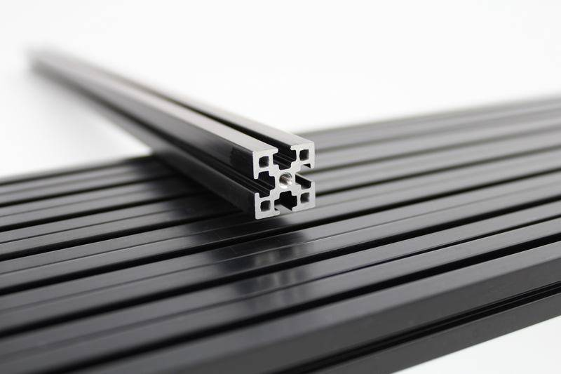 MakerBeamXL - 15x15mm aluminum profile 3 pieces of 750mm black MakerBeamXL for Kossel 3D printer