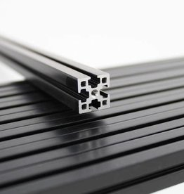 MakerBeamXL - 15x15mm aluminum profile 360mm (9p) black MakerBeamXL Kossel (15mmx15mm)