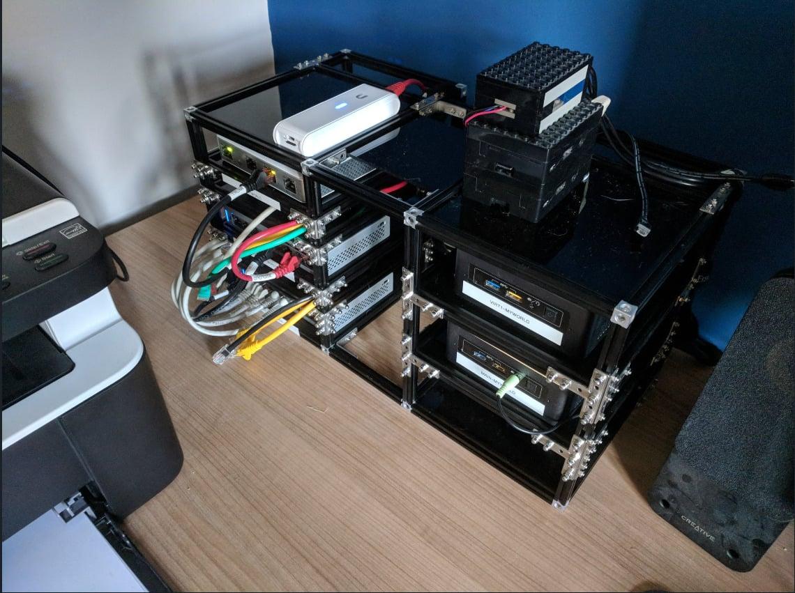New homelab rack and Unifi network upgrade - MakerBeam