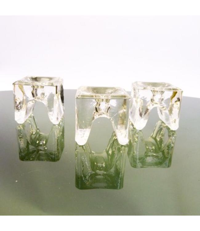 Vintage walther glas solifleur kandelaars