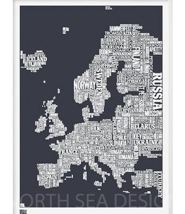 Bold & Noble Type Map Europe