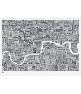 Bold & Noble Type Map Londen