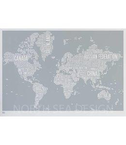 Bold & Noble Type Map Wereld