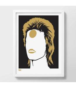 Bold & Noble Screen print Bowie | Ziggy