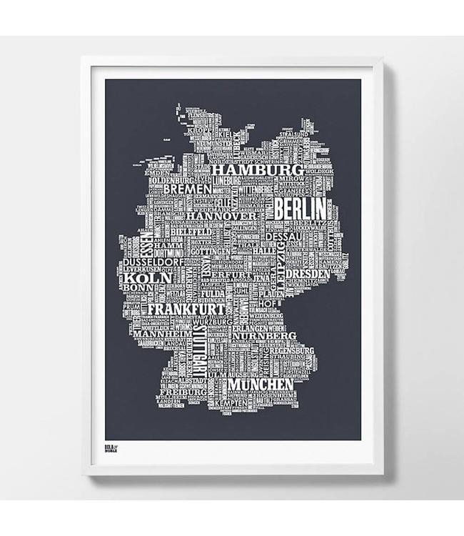 Bold & Noble Type map Duitsland Donker grijs