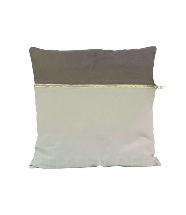 Present Time Cushion | Duo Tone | Square | Grey