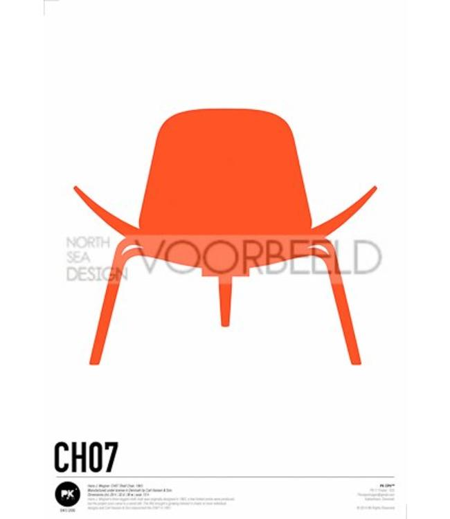 Pk Posters™ Poster Shell Chair | CH07