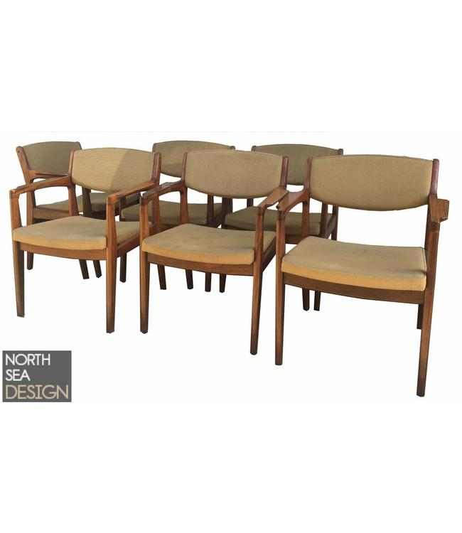 Vintage Vintage Eettafelstoelen met armleuning