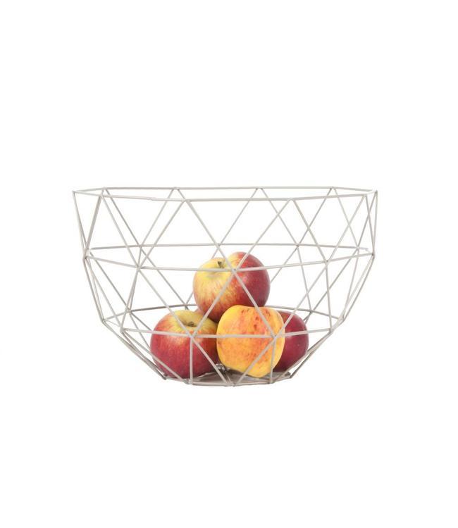 Present Time Fruit Basket Set | Linea | Mouse Grey