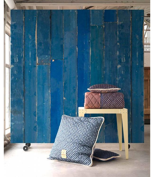 NLXL Piet Hein Eek Wallpaper   Blue Scrapwood