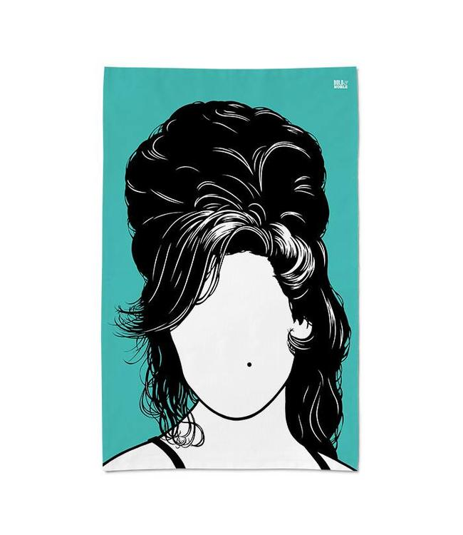 Bold & Noble Icons Tea Towel Amy Winehouse
