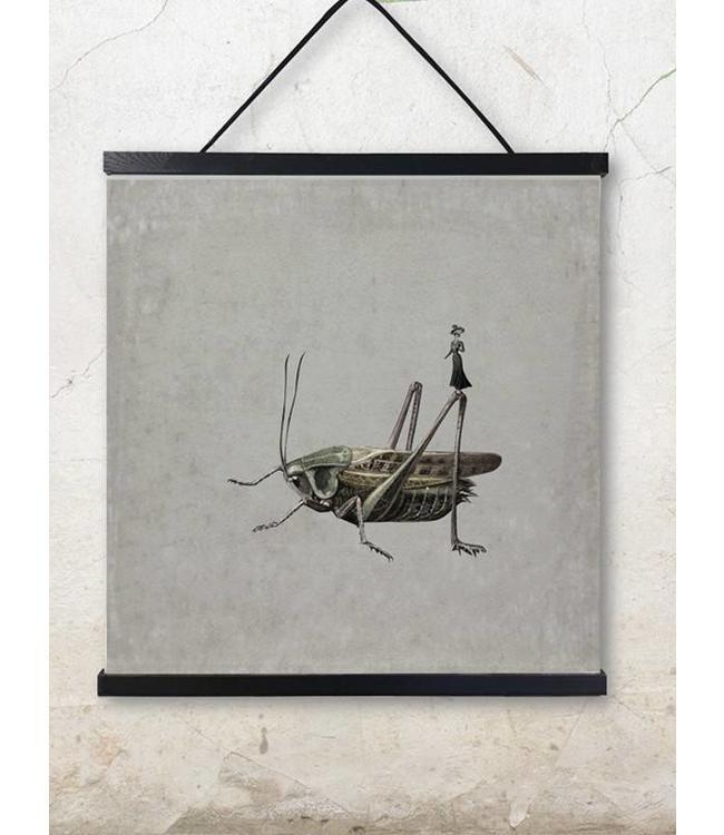 Vanilla Fly Print | Sprinkhaan | 50x50cm