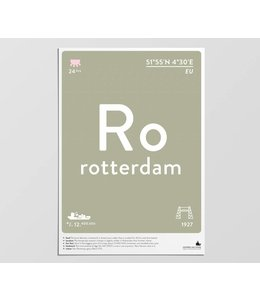 Label of the Elements Poster Rotterdam A3
