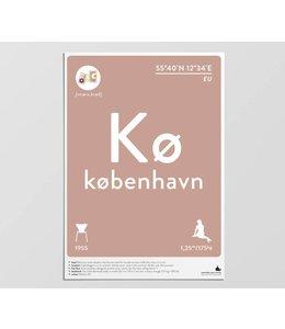 Label of the Elements Poster Kopenhagen A3