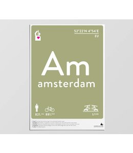 Label of the Elements Poster Amsterdam A3