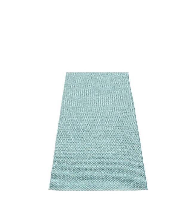 Pappelina Vloerkleed Svea | Blauw metallic / Pale Turquoise