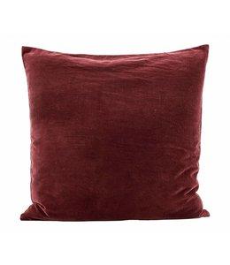 House Doctor Pillow Case Velv | Burnt Henna