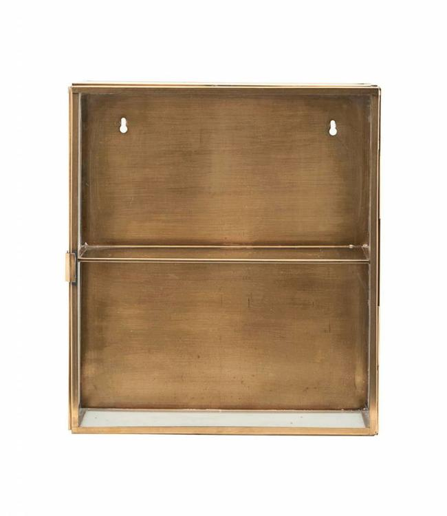 House Doctor Cabinet Glass Brass