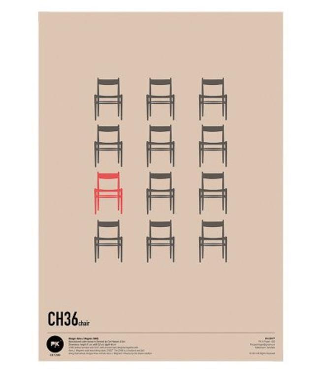 Pk Posters™ Poster Wegner CH36 Chair