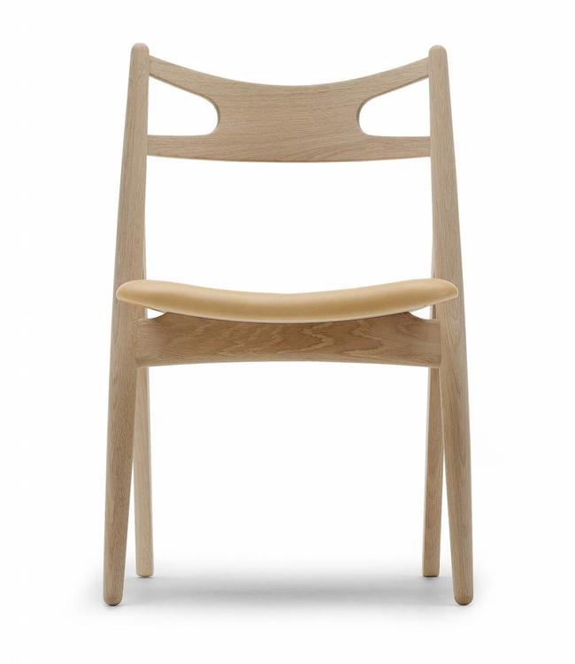 Carl Hansen & Søn CH29 Sawbuck Chair & Leather Upholstery