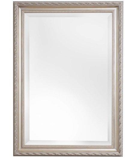 nyons spiegel mit silbernem barock rahmen mit ornament. Black Bedroom Furniture Sets. Home Design Ideas
