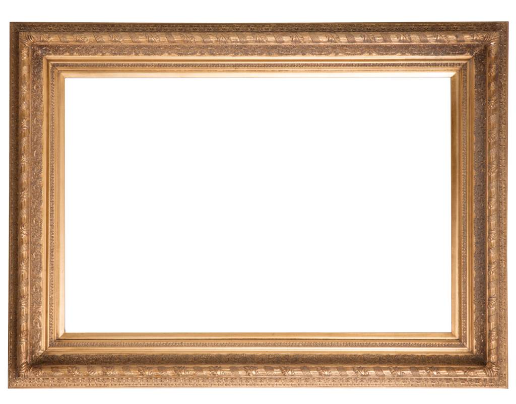 Vigo - Goldener Rahmen mit Ornament - | KunstSpiegel.de