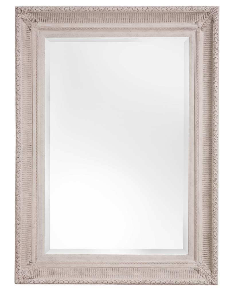 Spiegel mit gebrochenem wei en rahmen for Spiegel rahmen