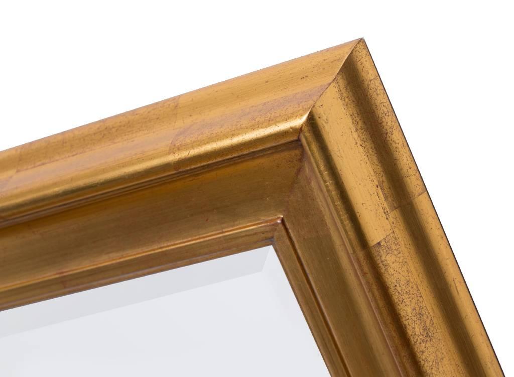 foggia spiegel mit modernem goldenem rahmen. Black Bedroom Furniture Sets. Home Design Ideas