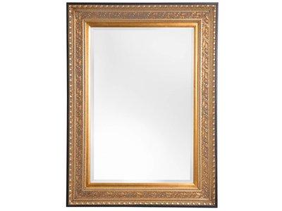 Spiegel mit goldenem Rahmen