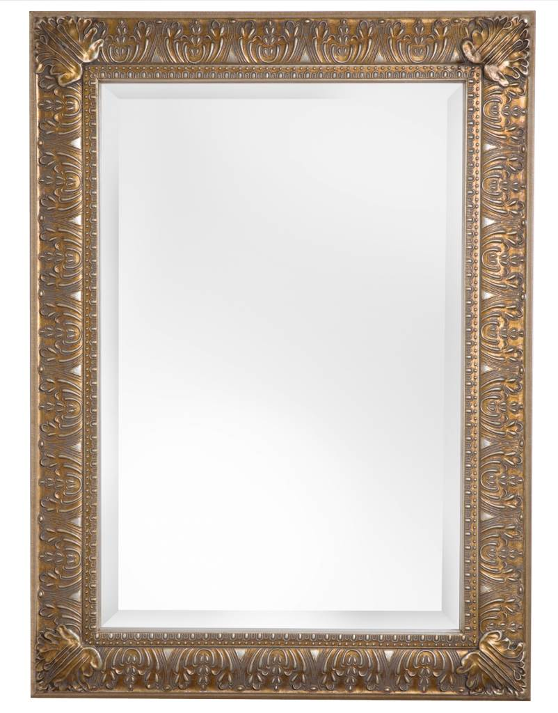 spiegel mit klassischem rahmen in silber. Black Bedroom Furniture Sets. Home Design Ideas