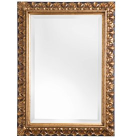 Padua - Spiegel mit goldenem Rahmen mit braunem Rand