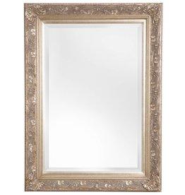 Turin - Atmosphäre schaffender Spiegel mit silbernem Barock-Rahmen