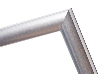 Augusta - moderner silberner Rahmen