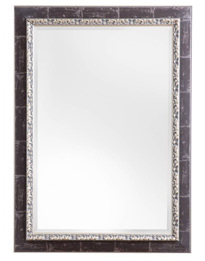 bosa spiegel mit silberbraunem rahmen. Black Bedroom Furniture Sets. Home Design Ideas