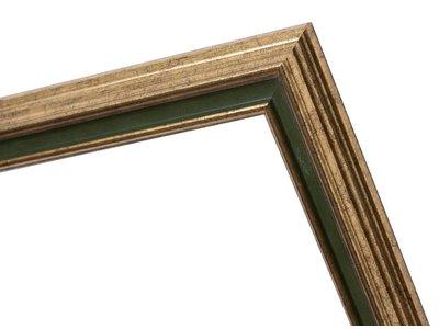 Pavia Rahmen in Gold und Dunkelgrün