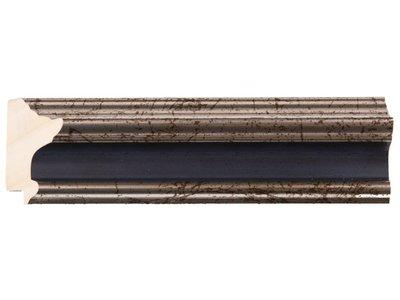 Silberner Rahmen mit dunkelblauem Rand