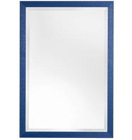 Xabia - Atmosphäre schaffender preiswerter Spiegel mit blauem Rahmen