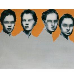 Orange Frauen II - Kunstdruck auf Leinwand