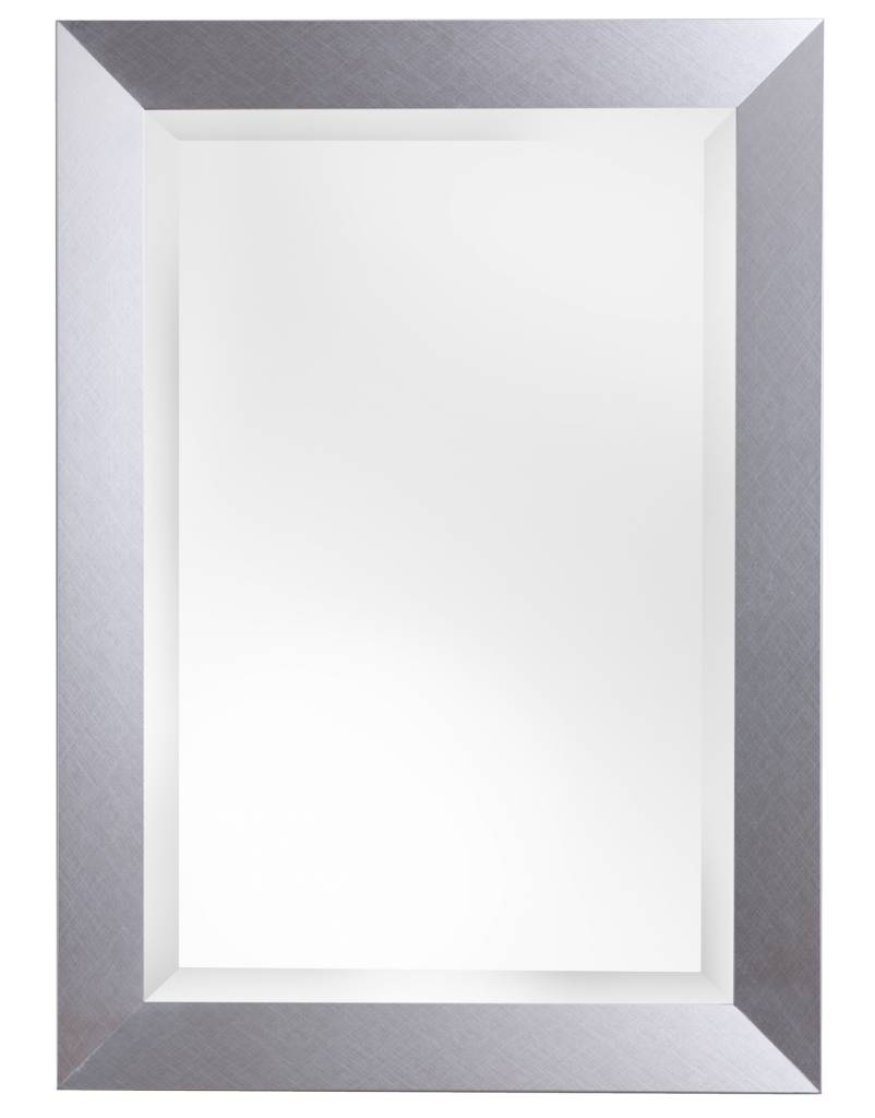 spiegel mit modernem silberem rahmen. Black Bedroom Furniture Sets. Home Design Ideas