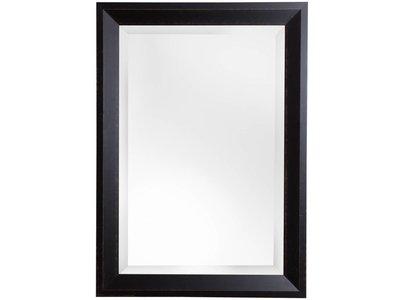 Spiegel mit dunkelbraunem Holzrahmen