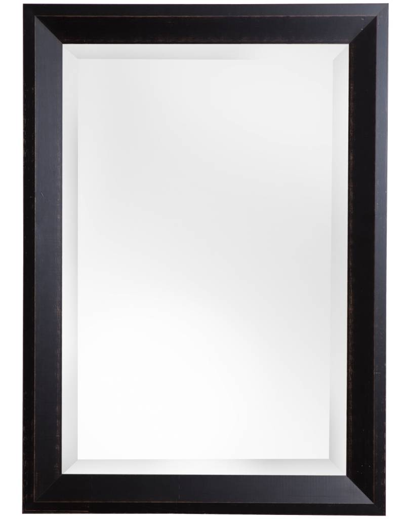 Spiegel mit dunkelbraunem Holzrahmen - | KunstSpiegel.de