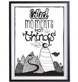 Collect Moments - Plakat mit Passepartout im schwarzen Holzrahmen