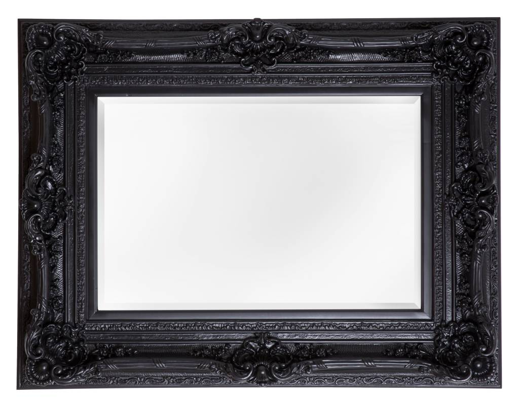 spiegel mit schwarzem rahmen brescia schwarz mit spiegel spiegel mit schwarzem barock rahmen. Black Bedroom Furniture Sets. Home Design Ideas
