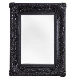 Palermo - Spiegel mit schwarzem Barock-Rahmen